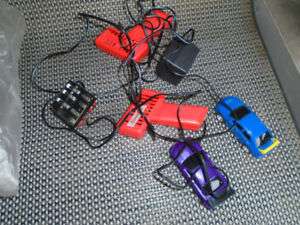Remote control race cars power source and guns