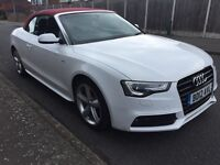 2012 Audi A5 S Line cabriolet 2.0 diesel white px golf a3 caddy