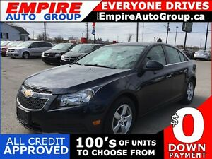 2014 CHEVROLET CRUZE 2LT * 1 OWNER * LEATHER * SUNROOF * REAR CA