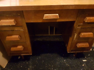 Mini bar Fridge  and office desk.