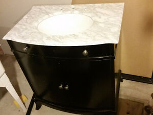 Marble Top Vanity With New Hardware