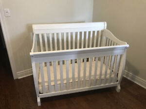 Crib and mattress for sale - virtually unused