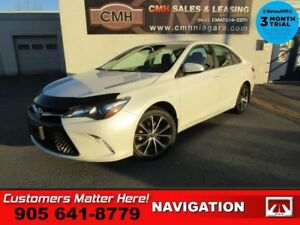 2015 Toyota Camry XSE  PREM-PKG SUNROOF BS NAV CAM HS CLOTH/LEAT