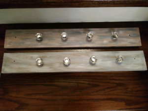 Wall Mounted Glass Knobs Coat Rack