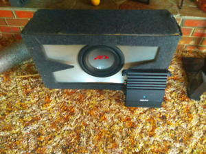 Christmas special! Barely used alpine TypeR sub and 500-watt amp