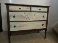 Vintage 1910-1925 Chest of Drawers/4 Drawers Dresser