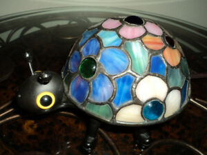 Ladybug Stained Glass Lamp