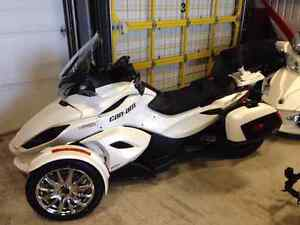 Can-Am Spyder ST-Limited 2013 - Blanc + Suspension FOX