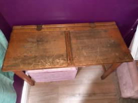 Double old school desk