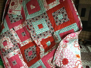 Hand Made Large double Size Pottery Barn Quilt