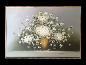 Nancy Lee Original Daisies Oil Painting