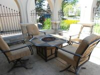 Patio Set-   table with gas Firepit