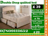 A Single / Double / King Sizes Bed Deep Quilted Bed Frame with Range