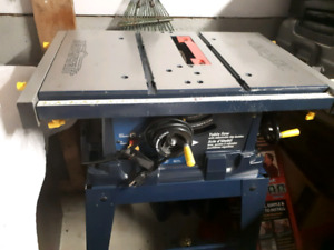 Mastercraft 15A Table Saw with Stand 10''/new blade free with it