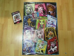 Grand poster Monster High + un roman Monster High