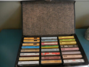 Elvis Presley Cassette Tapes Lot of 60 with 2 Carrying Cases EX