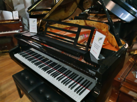 Feurich 162 dynamic II baby grand piano black polyester for sale