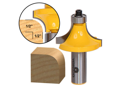 Yonico 13166 Round Over Edging Router Bit with 1/2-Inch Radi