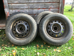 Winter Tires on Rims - Size 195/65 R15