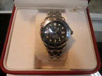 OMEGA SEA-MASTER WATCH BLUE AUTO SS CASE