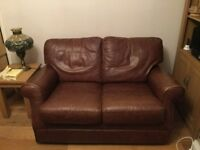Pair of Genuine Leather Sofas