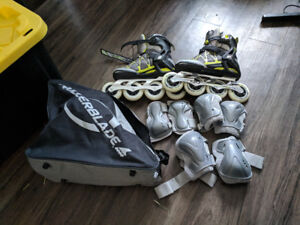 Rollerblades for sale with all protection gears