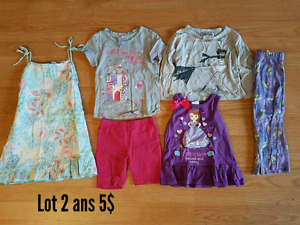 Lot de vêtements fille 2-3-4 ans
