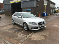 2010 Audi A3 2.0 TDI S Line 3DR,ONLY 53000 MILES WITH FULL SERVICE HISTORY
