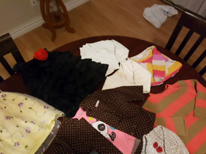 Girls clothes ages 6m to 24m.