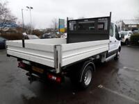 Ford Transit T350 2.2 Tdci Double Cab Tipper 125ps DIESEL MANUAL WHITE (2015)