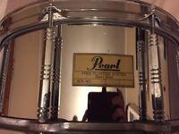 Pearl Free floating 14x6.5 steel snare drum