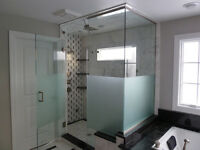 Installation  portes de douche / Shower doors installations