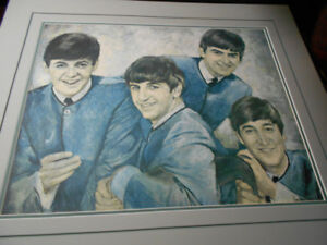 Beatles limited edition  on canvas signed leo Jansen
