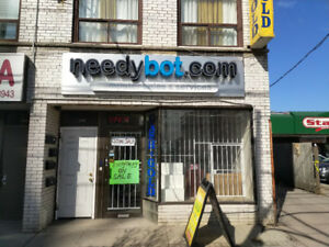 Retail Space For Lease at Eglinton and Dufferin!