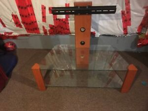 TV Glass Stand-Trolly