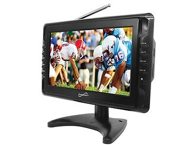 "Supersonic SC-2810 10"" LCD Portable Rechargeable Digital TV/Television +Remote"