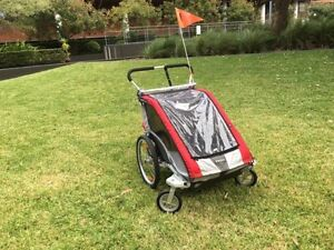 Thule Chariot Cougar 2 Red Child Bike Carrier Trailer Zetland Inner Sydney Preview