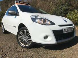 *12 MTHS WARRANTY*2011(61)RENAULT CLIO 1.2 TCE GT LINE 3DR(TOM TOM)SAT NAV*LEATH