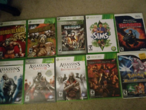 Assorted 360 & Wii titles