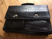 Leather woman's briefcase
