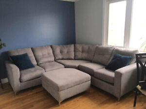 Sectional Couch and Ottoman For SALE