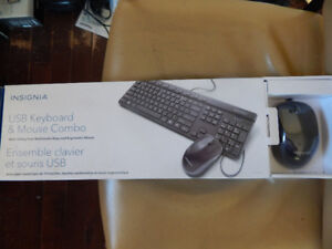BRAND NEW INSIGNIA USB KEYBOARD AND MOUSE.