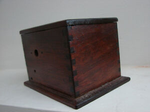 vintage 1920's Wooden DOVETAIL storage box