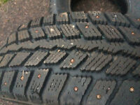 Two winter studded tires 195/70/R14 for 100$ both