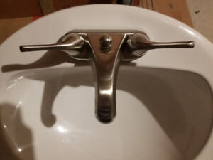 Sink with AquaSource Faucet