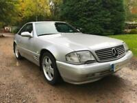 MERCEDES BENZ R129 FACELIFT MODEL SL320 V6 ICONIC CLASSIC NAVY ROOF HARDTOP