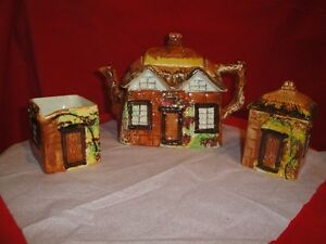 Price Bros. ye olde  cottage teapot set