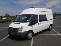 2008 58 FORD TRANSIT 2.4 TDCI 115PS 350 LWB CREW DOUBLE CAB DAY VAN MESS UNIT