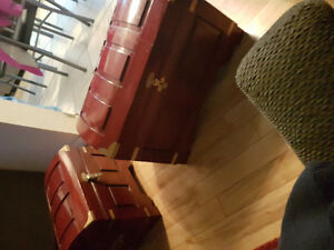2 old rosewood trunks