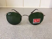 Ray Ban Round Metal Sunglasses RB3447 (silver frame/dark green lens)